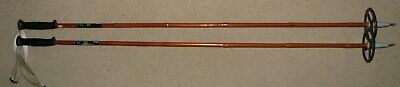 Vintage Bonna Bamboo Cross Country Ski Poles w/ Leather Straps 127 cm/50 Inches  50 Inch Ski Poles