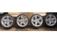 """BMW 5 SERIES F10 F11 M/SPORT DOUBLE SPOKE 351 ALLOY 19"""" WHEELS 7mm GOODYEAR EXCELLENCE TYRES"""