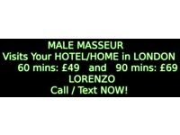 Full body MASSAGE by YOUNG MALE Masseur to Your HOTEL/HOME in LONDON