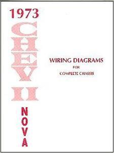 1973   73NOVA   CHEVY      II   WIRING   DIAGRAM   MANUAL
