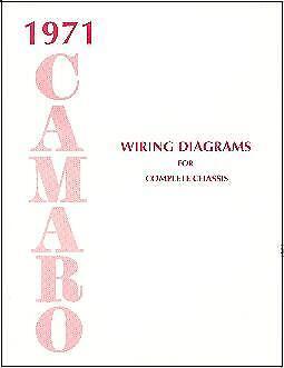 1971 71 Camaro Wiring Diagram Manual