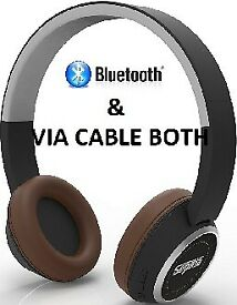 7fae5d6cc28 Sephia SR28 Bluetooth Headphones Bass Driven Sound Rechargeable and cable