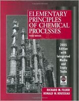 Elementary Principals of Chemical Processes ENCH315