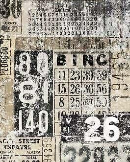 Grunge Numbers decoupage by Roycycled Treasures!