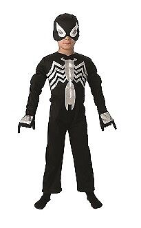 schwarze Spinne Original Deluxe Kinderkostüm (Black Spiderman Kinder Kostüm)