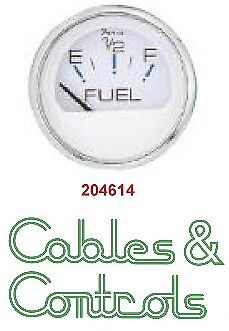 Faria Chesapeake White Fuel gauge S/S Trim