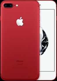 Iphone 7 Plus, 128 GB, RED (Special Edition), Facotry Unlocked, BNIB, Factory Sealed, Never Opened