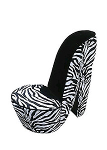 Zebra Print High Heel Chair