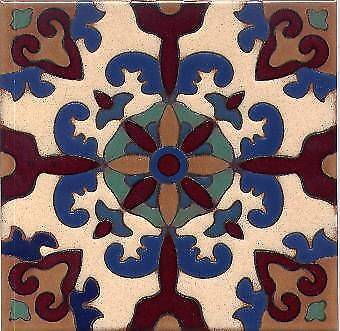 Beautiful 6x6 Hand-Painted Ceurda Seca Tiles Custom Colors Available