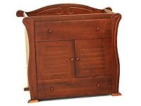 Tutti Bambini 'Marie' Cupboard/Changing unit in walnut Nursery furniture