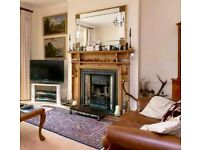 Attractive fireplace in excellent condition - pine surround cast iron insert