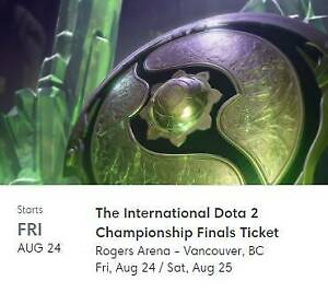 Dota 2 The International TI 8 Finals Ticket