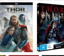 Thor 1&2 dvds (plus more superhero dvds)