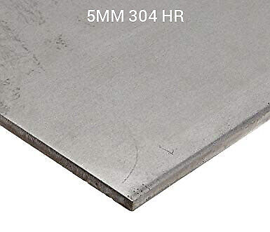 Stainless Steel 304 Hr. Hot Rolled. Laser Cut Quality. 5mm Thick. Sheetplate.