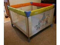 Hauck dream n play travel cot and playpen