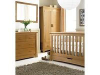 Mamas and Papas Ocean - Solid oak nursery furniture. Cost well over £2k. Absolute Bargain.