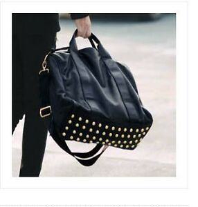 Fashion-Black-Tote-Womens-PU-Leather-Shoulder-Messenger-Bag-Handbag-Purse-Rivet