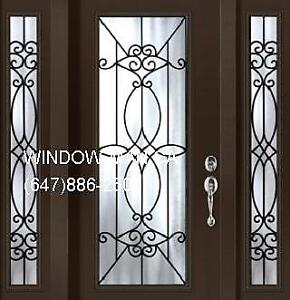 TwoSideLights Single Entry Door Front  Top Quality