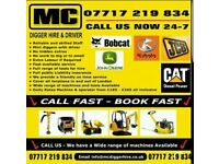 Digger hire with driver 150 a day excavator with operator all London