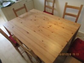 Good pine dining table for sale - collection only Sept 21st-24th