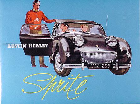 1958 1959 1960 Austin Healey Sprite Sales Brochure Color Foldout Buyeye Frogeye