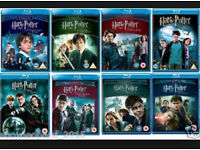 Harry Potter BLU-RAYs entire collection (8 films)