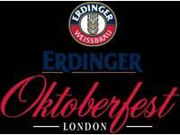 Erdinger Oktoberfest London tickets x 2