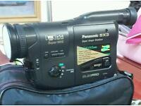 Panasonic camcorder with accessories