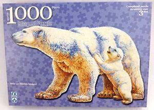 SCHMID 1000 piece Shaped  Polar Bear Puzzle NEW IN BOX