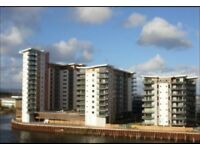 AVAILABLE IMMEDIATELY - Double room in stunning Cardiff Bay apartment - with river and marina views