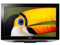 Sharp 32 Inch LCD HD TV, Freeview, Brand new Remote, Wall Bracket. NO OFFERS