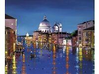 Venetian Lights by Neil Dawson black frame WxH: 23 x 27.25 inches