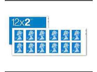 NEW Royal Mail Stamps SECOND 2nd CLASS Book of 12 x 50 UK Postage