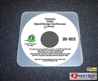 Tektronix Tek 2430a Oprsgpibprogrusers Manuals Cd With Complete A3 Diagrams