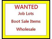 Boot sale items wanted