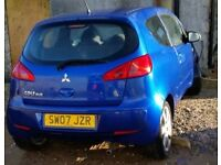 Mitsubishi Colt 1.1 Blue special edition. 3Dr, 16in Alloys, MOT till 22nd Sep