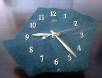 Quartz Clock crafted from real rock