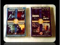 DVDS - ROBOCOP/THRILLER FILMS - (8 titles) - FOR SALE