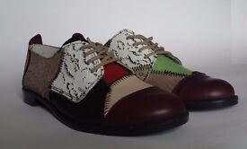 Women's Ladies Shoes Handmade Multicolor Size 6