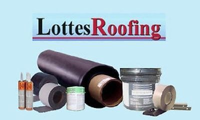 Epdm Rubber Roof Roofing Kit Complete - 2500 Sq.ft. By The Lottes Companies