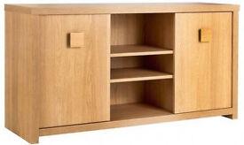 Brand new oak effect sideboard/ tv unit