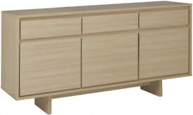 Linear 3 Door 3 Drawer Sideboard - Light Oak