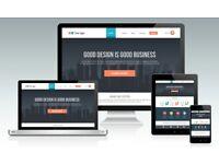 Professional Mobile Responsive Website Design With Your Own FREE Eye Catch Logo Design.