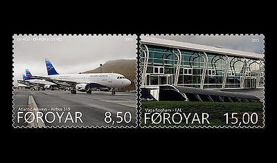 Faroer 2015  Vagar airport  vliegtuig    postfris/mnh