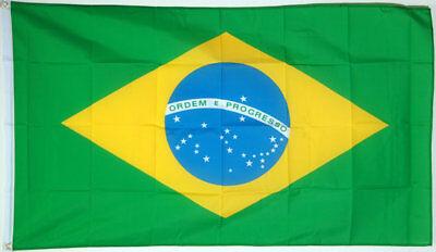100 x TOP BRASILIEN NATIONAL FLAGGE FAHNE mit ÖSEN#150x90cm#NEU&OVP