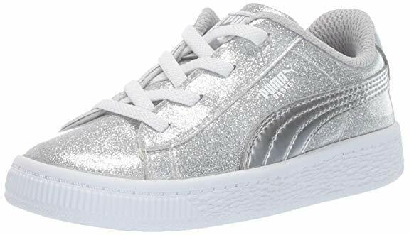 PUMA Sneakers Silver Sparkle Slip On No-Tie  Infant/Toddler Girls Size 5