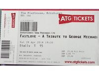 3 tickets fastlove tribute to George Michael