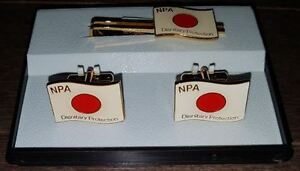 Japan NPA Dignitary Protection Cufflinks and Tie Clip