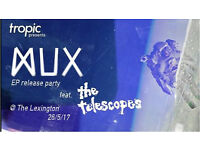 MUX Release Party featuring the Telescopes and more at the Lexington