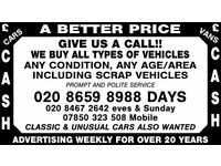 Classic cars and vans wanted.